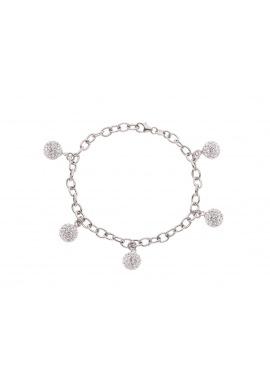 Bracelet CHARM'S Argent & Véritables Crystal