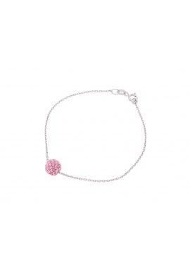 Bracelet Argent Véritable Crystal Rose