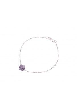 Bracelet Argent Véritable Crystal Violet