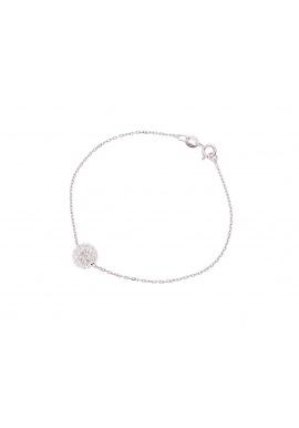 Bracelet Argent Boule & Véritable Crystal