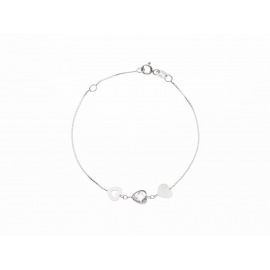 Bracelet Argent & Cœurs Argent