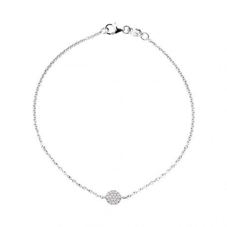 Bracelet Véritables Diamants Blancs 0,11 Carats, Rond