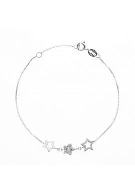 Bracelet Argent & Etoiles Argent
