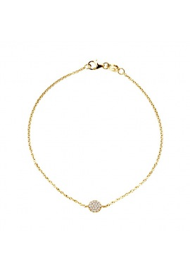 Bracelet Véritables Diamants Blancs 0,11 Carats Rond