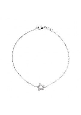 Bracelet Véritables Diamants Blancs 0,12 Carats Star