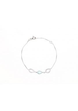 Bracelet Argent orné de Topaze & Goutte