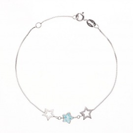 Bracelet Argent orné de Topaze & Etoiles