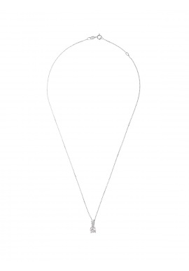 Collier Argent motif Solitaire