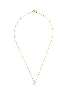 Collier Véritable Diamant Solitaire 0,10 Carats Serti 4 Griffe