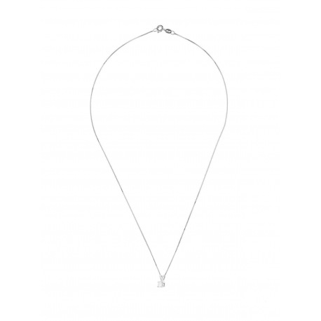 Collier Véritable Diamant Solitaire 0,30 Carats Serti 4 Griffe