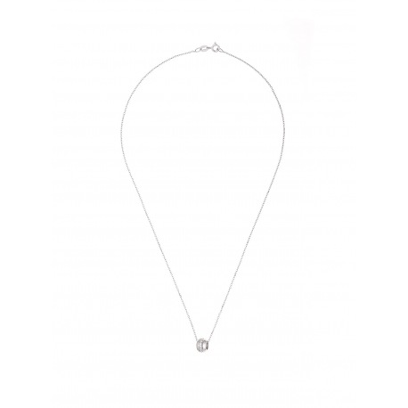 Collier Argent & Pendentif Cylindre