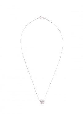 Collier Argent & Boule Véritable Crystal