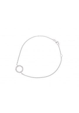 Bracelet en Argent avec Motif Cercle Serti