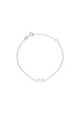 Bracelet Argent & motif Coeur pavés