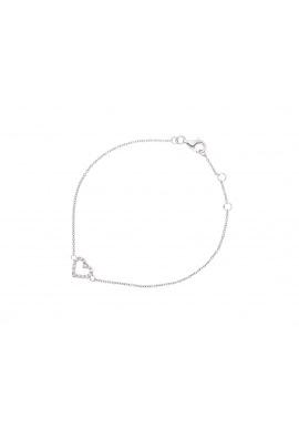 Bracelet en Argent avec Motif Central Cœur