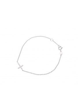 Bracelet en Argent avec Motif Central Croix