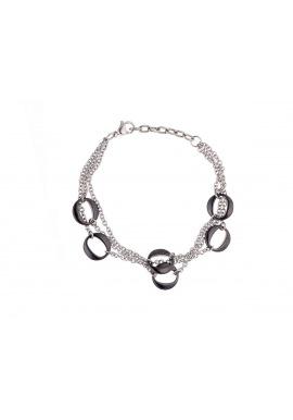 Bracelet Gourmette Style Maillons Céramique