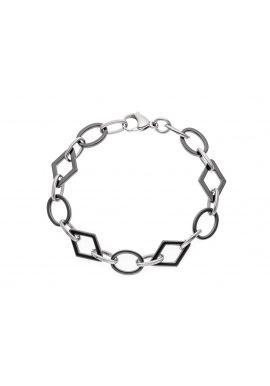 Bracelet Maille Fantaisie Anneau Céramique