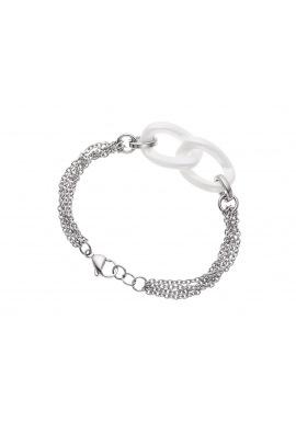 Bracelet Maille avec 2 Anneaux en Céramique