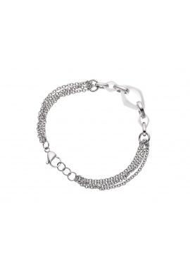 Bracelet Maille avec 3 Anneaux en Céramique