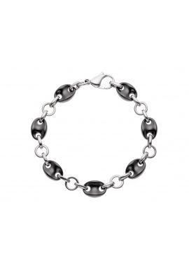 Bracelet Maille Grain de Café Anneau Céramique