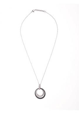 Collier Céramique Motif 2 Cercles