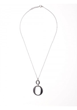 Collier Motif Céramique - Motif Cercle -
