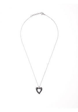 Collier Motif Céramique - Motif Cœur -