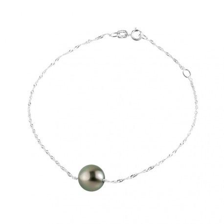Bracelet Maille Singapour en Or Blanc