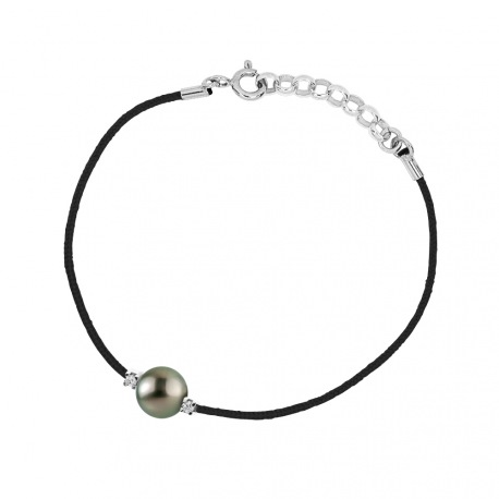 Bracelet Lien d'Amour NOIR & Diamants