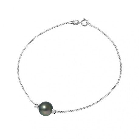 Bracelet Lien d'Amour Argent Massif & Diamants