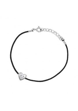 Bracelet Cœur Véritable Diamant 0,03 Carats