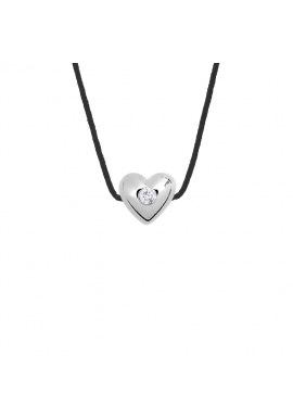 Collier Cœur Véritable Diamant 0,03 Carats