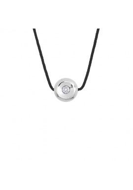 Collier Véritable Diamant 0,03 Carats Sertis Clos