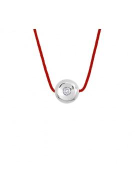 Collier Véritable Diamant 0,03 Carats Serti Clos