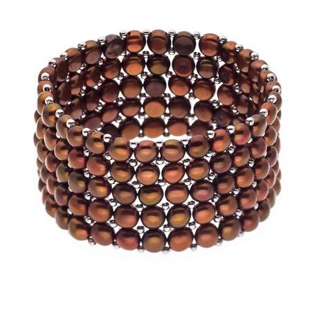 Bracelet 5 Rangs de Perles