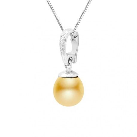 Pendentif Prestige Bélière & Diamants   en Or Blanc
